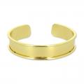 Bracelet Eco en laiton avec rebord courbé 15 mm doré x1