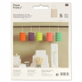 Lot de 5 lanternes en papier Paper Poetry 10 cm Multicolore