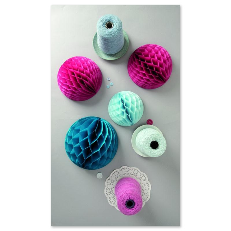 Assortiment de 3 boules en papier d co de table paper for Boule de papier deco