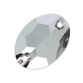 Cabochon 3210 16x11 mm Crystal Light Chrome x1