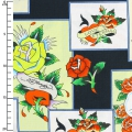 Tissu Love Is True by Ed Hardy - Overlapping Patches x10cm