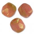 Facettes 3 mm Opaque Rose Ceramic Look x50