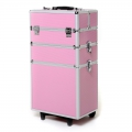 Valise de transport modulable pour bijoux à plusieurs étages Rose x1