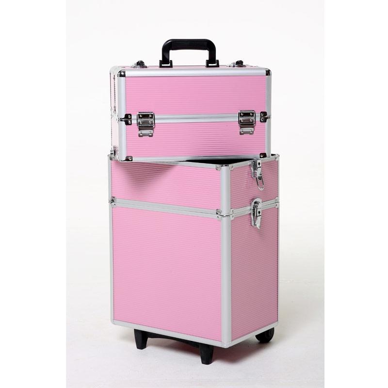 valise de transport modulable pour bijoux plusieurs tages rose perles co. Black Bedroom Furniture Sets. Home Design Ideas