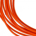 Cordon cuir 1,5 mm Orange x 2 m