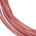 Cordon cuir 1,5 mm Light Rose x 2 m
