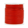 Cordon cuir 1,5 mm Rouge x 25 m