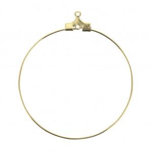 Supports boucles d oreilles créoles un anneau 40 mm doré x2 - Perles ... f2b93b2aa864
