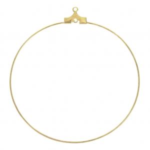 Supports boucles d oreilles créoles un anneau 50 mm doré x2 - Perles ... f970c56c451e