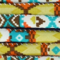 Cordon coton tubulaire 6 mm Indien Ocre/Green Turquoise x 1 m