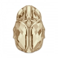 Scarab bead Swarovski 5728 12 mm Crystal Golden Shadow x1