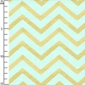 Tissu Michael Miller - Sleek Chevron Pearlized Mist x10cm