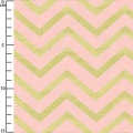 Tissu Michael Miller - Sleek Chevron Pearlized Blush x10cm