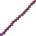 Rondes aplaties facettées 3x2 mm Purple Iris x35cm