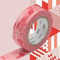 Masking Tape 15 mm Cubes Rouge x10m