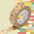 Masking Tape 15 mm Block Warm Pink x10m