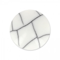Cabochon synthétique rond 12 mm imitation Howlite x1