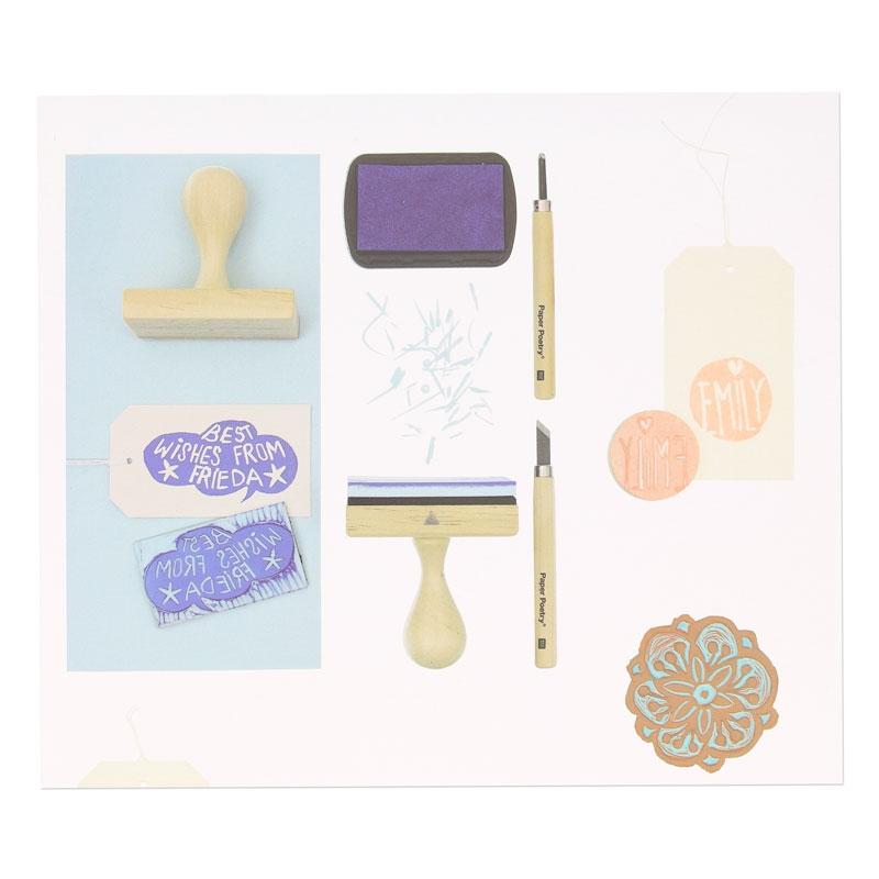 couteaux sculpter pour tampon faire soi m me paper poetry x6 perles co. Black Bedroom Furniture Sets. Home Design Ideas
