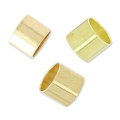 Tubes poussoirs pour cordons 4 mm light gold HQ x8