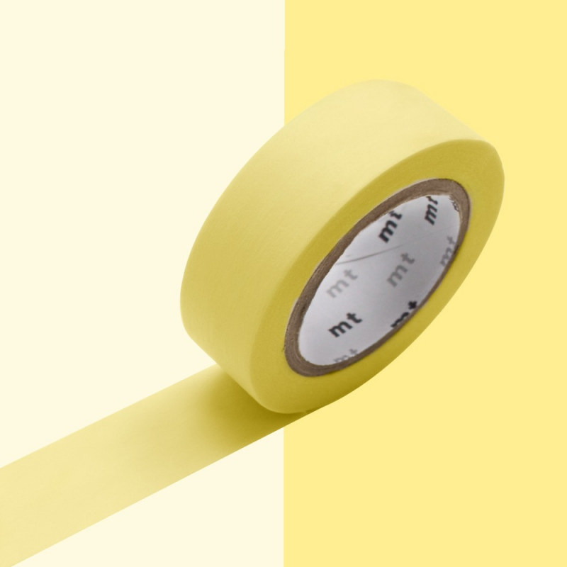 masking tape 15 mm pastel yellow x10m masking tape perles co. Black Bedroom Furniture Sets. Home Design Ideas