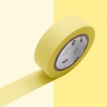 Masking Tape 15 mm Pastel Yellow x10m