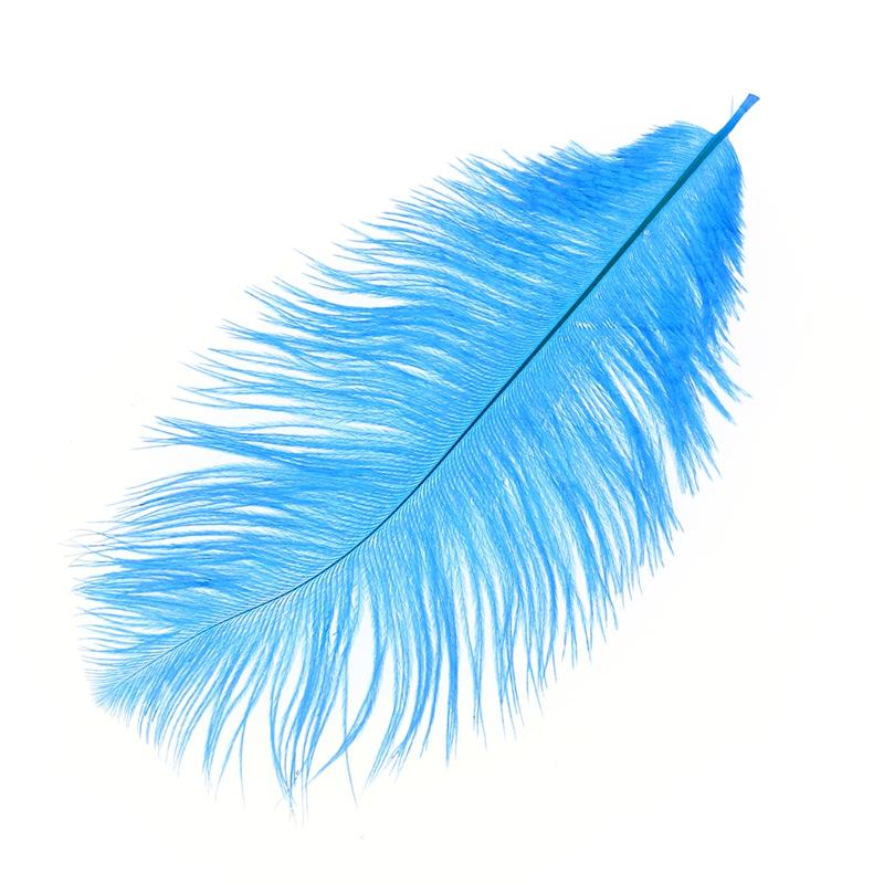 plume d 39 autruche 15 20 cm bleu p trole x1 perles co. Black Bedroom Furniture Sets. Home Design Ideas