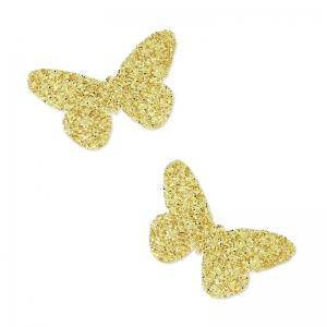 motifs thermocollants miniatures mme mlle 20 mm papillon dor x30 perles co. Black Bedroom Furniture Sets. Home Design Ideas