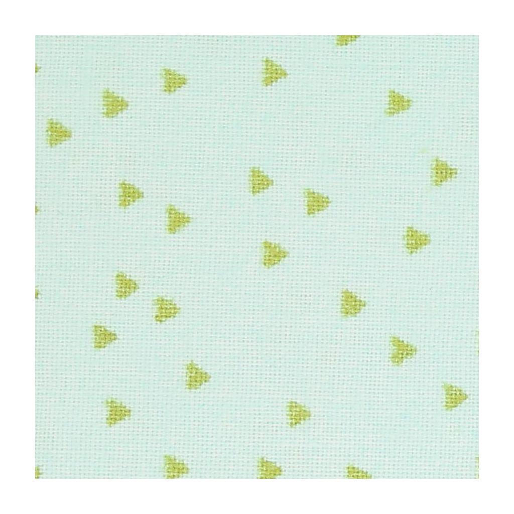 tissu tropical spring motif triangles mint dor x10cm. Black Bedroom Furniture Sets. Home Design Ideas