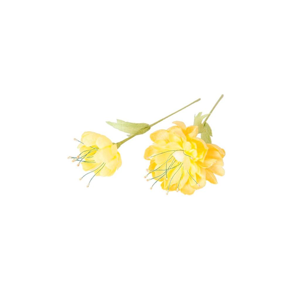 set de pochoirs pour fleurs en papier dahlia/lys/fleur de cerisier