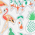 Paper Patch Tropiical Spring 42x30 cm Orange/Vert x1 feuille