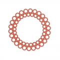 Intercalaire teinté laser cut rond 35 mm Terracotta x1