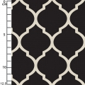 Tissu Heirloom - Lattice in Black x10cm