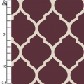 Tissu Heirloom - Lattice in Bordeaux x10cm