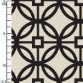 Tissu Heirloom - Trellis in Black x10cm
