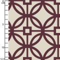 Tissu Heirloom - Trellis in Bordeaux x10cm