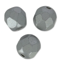 Facettes 6 mm Pastel Light Grey/Silver x25