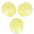 Facettes 8 mm Pastel Yellow Pearl x20