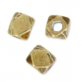 Cubes facettés 3 mm bronze x10