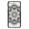 Coque rigide à customiser pour iPhone 6/6S Décor Mandalas Noir x1