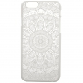 Coque rigide à customiser pour iPhone 6/6S Décor Mandalas Blanc x1