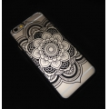 Coque rigide à customiser pour iPhone 5/5S Décor Mandalas Noir x1