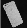 Coque rigide à customiser pour iPhone 5/5S Décor Mandalas Blanc x1