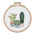 Kit de broderie point de croix compté 11.5 cm Cactus