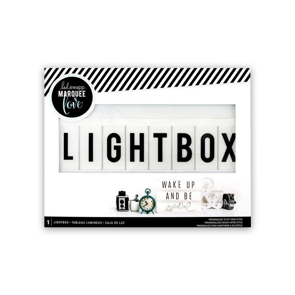 Lightbox Heidi Swapp Tableau Lumineux Heidi Swapp Perles Co # Image Lumineux