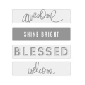 Lightbox Heidi Swapp - Diapositives Awesome/Shine Bright/Blessed/ Welcome