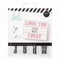 Lightbox Heidi Swapp - Diapositives 50 mini-lettres fond Transparent