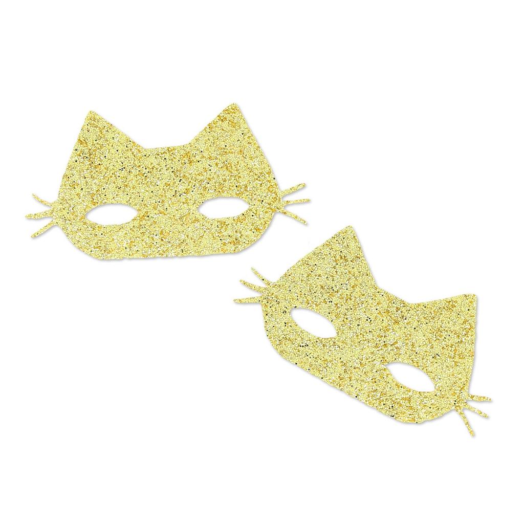 motifs thermocollants miniatures mme mlle 17x31 mm masque de chat perles co. Black Bedroom Furniture Sets. Home Design Ideas