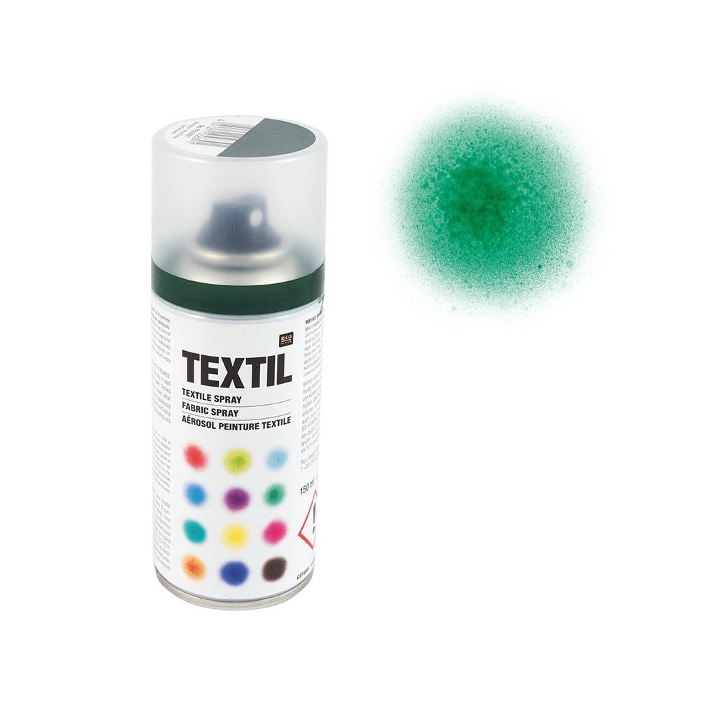 bombe de peinture textile vert mousse x 150 ml rico design perles co. Black Bedroom Furniture Sets. Home Design Ideas
