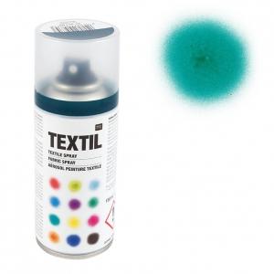 bombe de peinture textile bleu p trole x 150 ml perles co. Black Bedroom Furniture Sets. Home Design Ideas