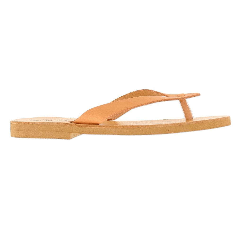separation shoes 16df9 27e96 ... Paire de tongs en cuir à customiser Taille 40 Naturel x1 ...